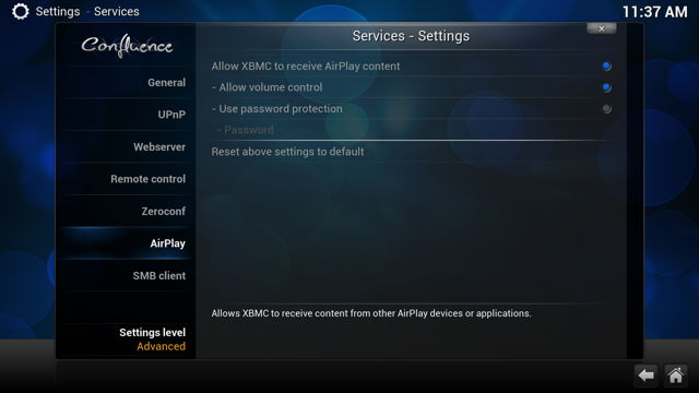 XBMC-Airplay-Settings