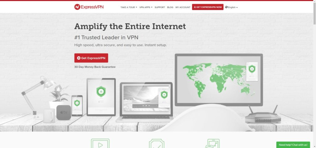ExpressVPN Website Screenshot