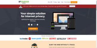 IPVanish Website Screenshot