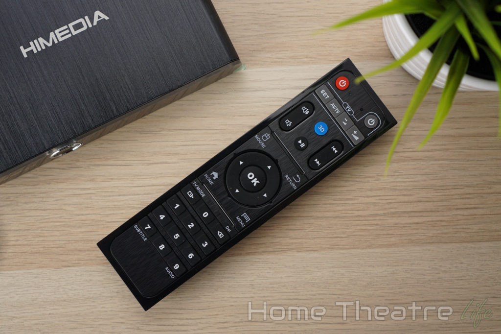 HiMedia Q30 Review Remote Control