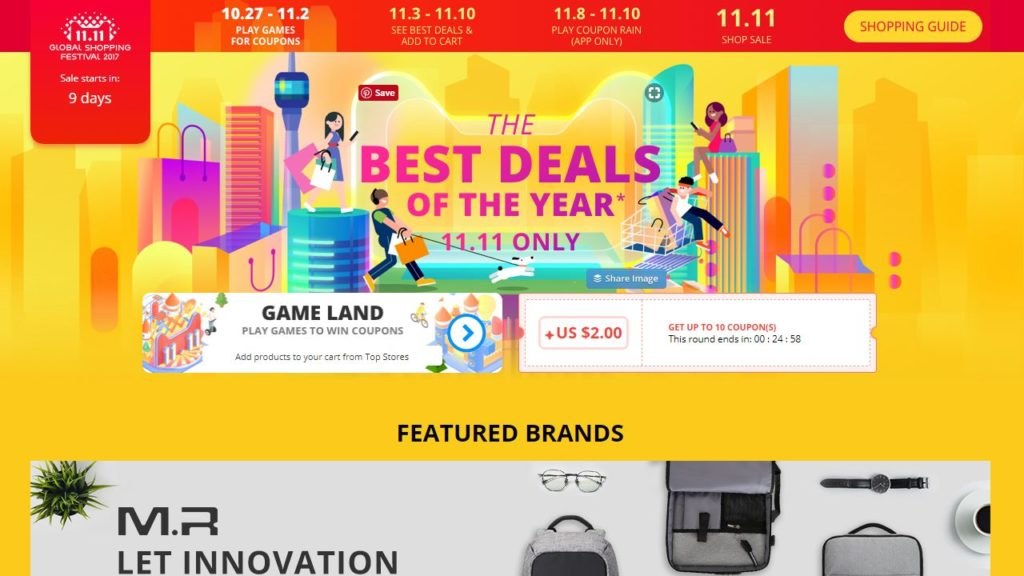 AliExpress Singles Day Sale 2017