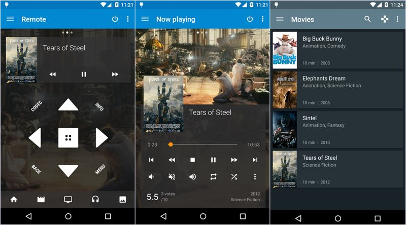 Kore Kodi Remote App for Android Screenshots