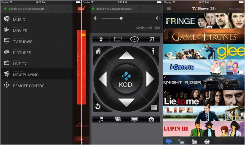 Official Kodi Remote App for iPhone Screenshots