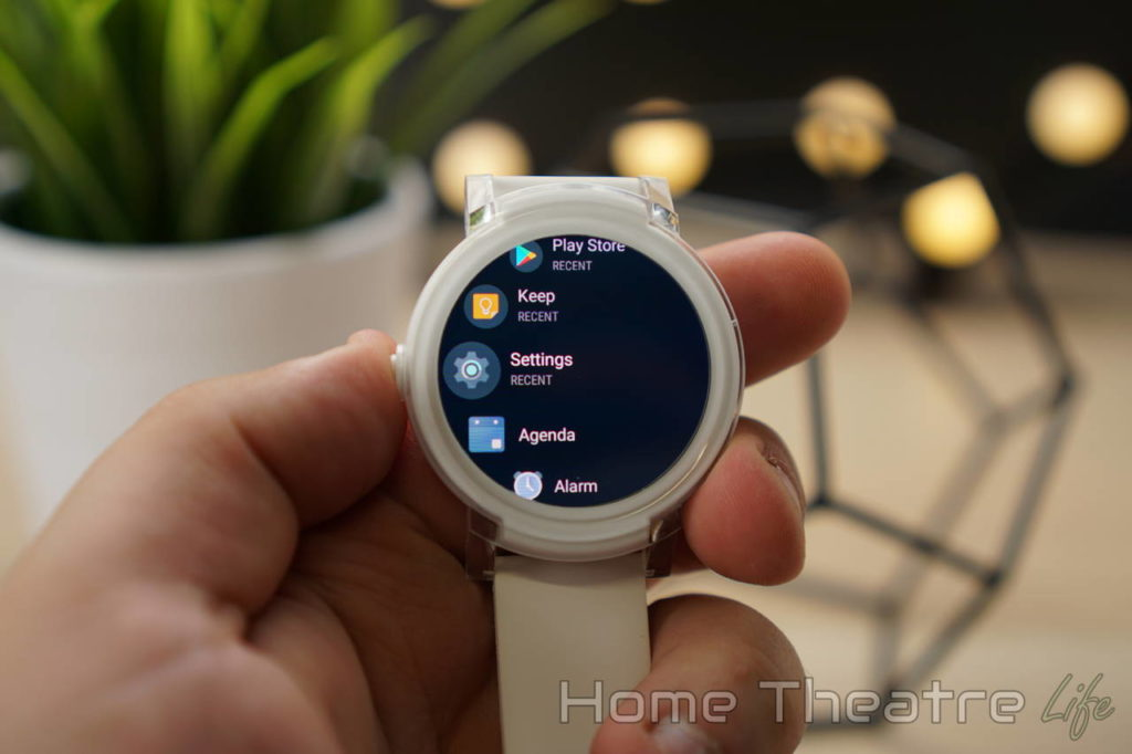 Ticwatch E Review Android Wear Menu