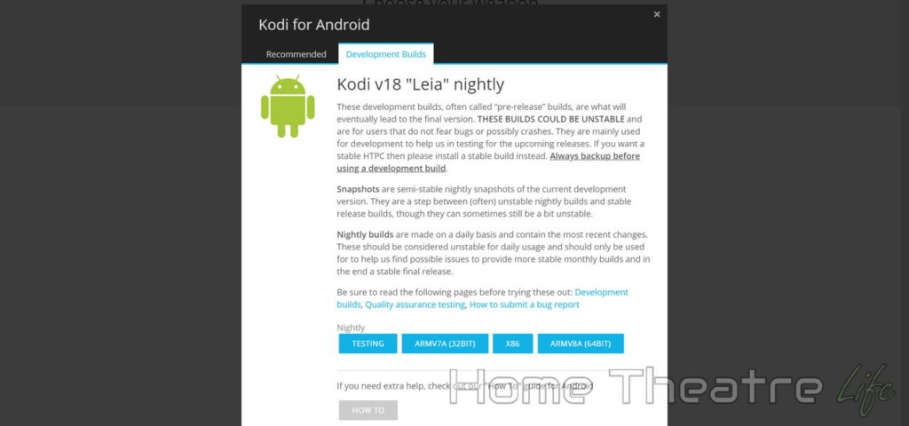 Kodi 18 Leia Nightly Android Downloads