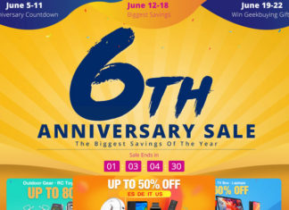 GeekBuying 6th Anniversary Sale