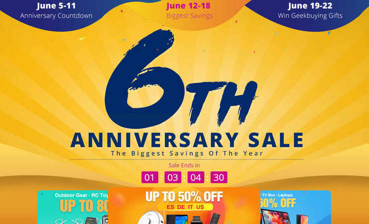 GeekBuying 6th Anniversary Sale