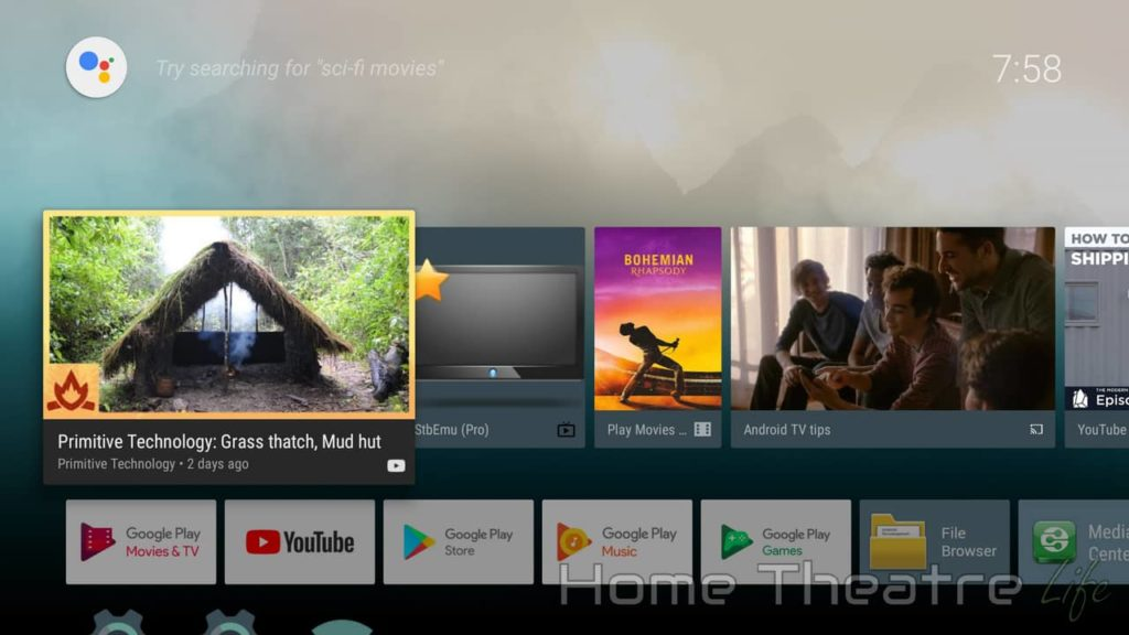 Beelink GT1-A Android TV Launcher